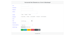 Bootstrap4 Horizontal Form