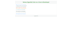 Hyperlink Text Color in Bootstrap4