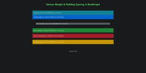 Margin & Padding in Bootstrap4