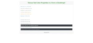 Text Color Properties
